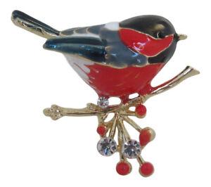 Enamel Robin Redbreast Bird Brooch Wild Birds Mothers Day Gift Secret Santa New