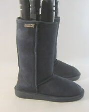 "Bearpaw Womens Emma 8"" Mid-Calf Blue Suede Boot Sheep Wool Us Size 6"
