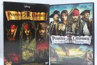 """coffret trilogie """" pirate des caraïbes """" 3 dvd +le 4ème la fontaine de jouvence"""