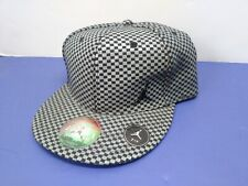 Air Jordan Limited Edition Fitted Hat 7 1/4 Black Silver Gray Checker EUC