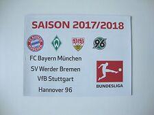 Update-Set 1.Bundesliga Magnettabelle 17/18 Tabelle DFL 2017/2018 1.LigaH96 VFB