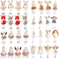 Angel Plush Doll Christmas Hanging Pendant Ornaments Xmas Tree Embellishment-