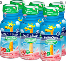 24 PACK OF PediaSure Grow & Gain  Strawberry W/ FIBER  Shake 8 oz. bottles