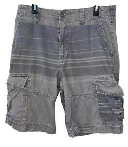 American Rag Cargo Shorts Bermuda Cotton Short Gray Striped Pant Men's Size 34
