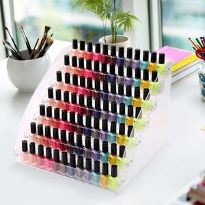 7 Tiers Acrylic Nail Polish Varnish Organiser Holder Storage Display Stand Rack