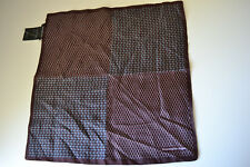 ERMENEGILDO ZENYA Men's Pocket Square Brown/Gray New 100% silk Made in Italy
