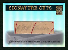 Hack Wilson 2004 Topps Tribute HOF Signature Cuts 1/1 Cut Auto SP Legendary Cubs