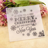 merry Christmas Embossing folder Plastic Embossing Folder For Scrapbooking B Cw