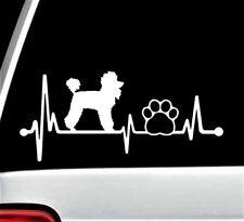 Poodle Paw Heartbeat Lifeline Dog Decal Sticker for Car Window 8 Inch BG 144