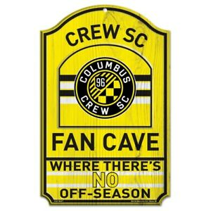"COLUMBUS CREW SC FAN CAVE WHERE THERE'S NO OFFSEASON WOOD SIGN 11""X17'' NEW"
