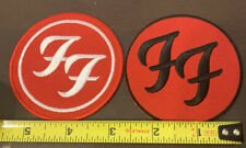 2 Foo Fighters Patches Red/white And Red Black