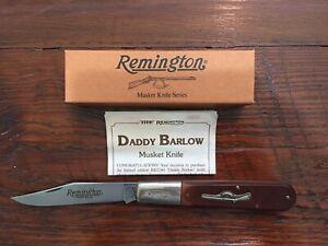 Vintage MINT Remington RB1240 Daddy Barlow Musket-1 Folding Pocket Knife