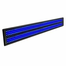 Actinic Blue White Aquarium Fish Tank Slim LED Light Aluminum Tube Reflector 120cm