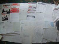 DTV Documents Roadbook Letters etc Jimmy McRae Chevette HS 1980 Scottish Rally