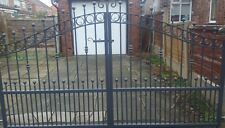 Wrought Iron Steel Double Driveway Gates