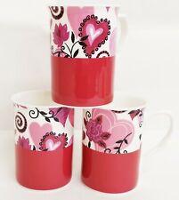Krasilnikoff Happy Mug Tasse Sweetie Rosa Pink coloré fleurs cœur rouge
