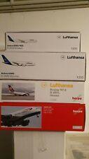 4x HERPA 1/200:  A380 LH; A380 BA; B747-8 LH; A350-900 LH; NEU; OVP