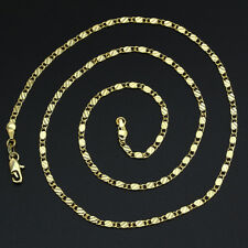 1PC 18K Yellow Gold Filled Thin Link Flat Chain Necklace 26inch Jewelry