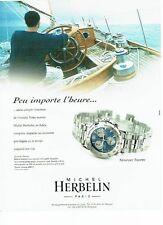 PUBLICITE ADVERTISING 126  1999  montre  Newport Trophy Michel Herbelin