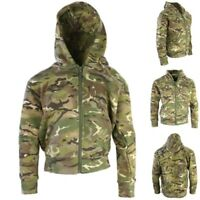 BOYS ARMY ZIP HOODIE JACKET FLEECE LINED TOP KIDS AGE 3-13 COSTUME BTP CAMO