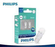 PHILIPS T10 6000K W5W White Ultinon LED Bulbs Rego Plate Parking Lights VW BMW