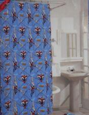 "Amazing Spiderman Vinyl Shower Curtain w/Hooks 70"" x 72"" Spider-Man Marvel Nip"