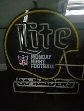 Vintage Miller Lite Beer raiders nfl Neon Sign Monday night football AUTHENTIC