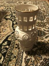 "Lenox Porcelain Votive Illuminations Spiral Ivory 7.79"" with Suspended Tealight"