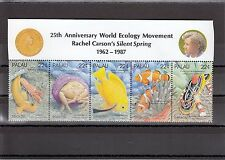 TIMBRE STAMP 5 PALAU Y&T#197-201 POISSON FISH CORAIL NEUF**/MNH-MINT 1987 ~A04