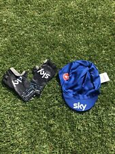 Castelli Cap + Mitts Gloves M Team Sky Ineos Time Trial Aero New Rosso Corsa