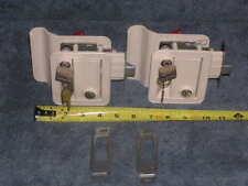 2ea RV Motorhome TRIMARK KEYED-A-LIKE Entry Door Handle Lock Set Hardware Kit