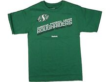 Men's Small SASKATCHEWAN ROUGHRIDERS CFL Football Backfield T Shirt Reebok Green