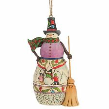Heartwood Creek Jim Shore 4047793 Winter Scene Snowman Hanging Ornament