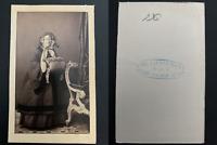 Jageman, Wien, Famille Reinlein, à identifier Vintage albumen print. CDV.  T