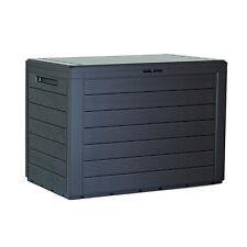 Caja de Jardín Caja de Almacenaje Baul Guardar con Cerradura 190L 280L Antracita