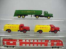 AF334-0,5# 3x Wiking H0 LKW/Tankwagen/Lastwagen Büssing: Shell+BP, NEUW