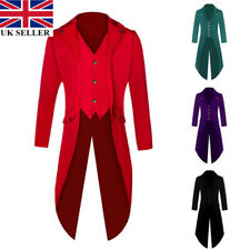 7ebe493ca Retro Victorian Steampunk Swalow Gothic Men Tailcoat Jacket Ringmaster Tail  Coat