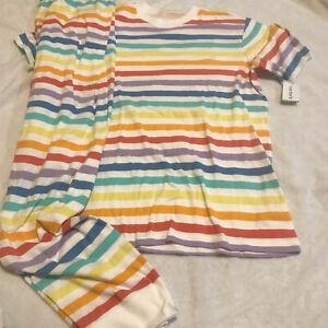 NWT carters easter XL adult family pajamas rainbow unisex MATCH kidsAVL passover