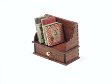 Dollhouse Miniature 1:12 Scale Mahogany Cookbook shelf - Artist Made Furniture