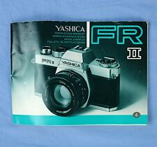 Yashica FR II SLR 35mm Camera Owners Instruction Booklet Manual