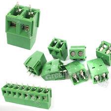 10 piezas 2 pin 5mm PCB UNIVERSAL tornillo bloque terminal conector 300V 16a