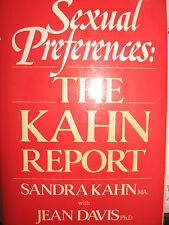Sexual Preferences:  The Kahn Report +Jean Davis HB 1st Ed + Dustjacket