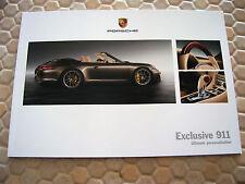 PORSCHE 911 991 CARRERA EXCLUSIVE OPTIONS PRESTIGE BROCHURE 2012 USA EDITION