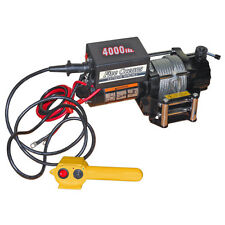 Five Oceans 4000 Lbs Electric Trailer Recovery Winch - ATV/Boat/Truck - 12V
