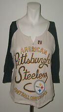 JUNK FOOD PITTSBURGH BLACK GOLD STEELERS 3/4 SLEEVE T-SHIRT SIZE M NWOT