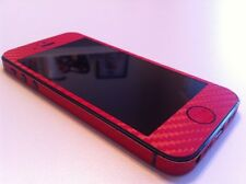 Carbon Fibre Full Body Decal Skin Protector Sticker For iPhone 4 4S 5 5S