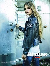 PUBLICITE ADVERTISING  2013   BLAUER USA     collection perfecto cuir