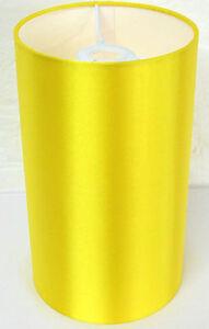 Hand Made Sunshine Yellow Cylinder Lampshade With White PVC Inner