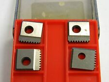 """H&G Inserts Q11141-3 7/8"""" - 14 Un Rh Chamfer 40 100 Series Chasers Lot of 4 USA"""
