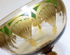 Antique Venetian Lidded Glass Gilt Compote